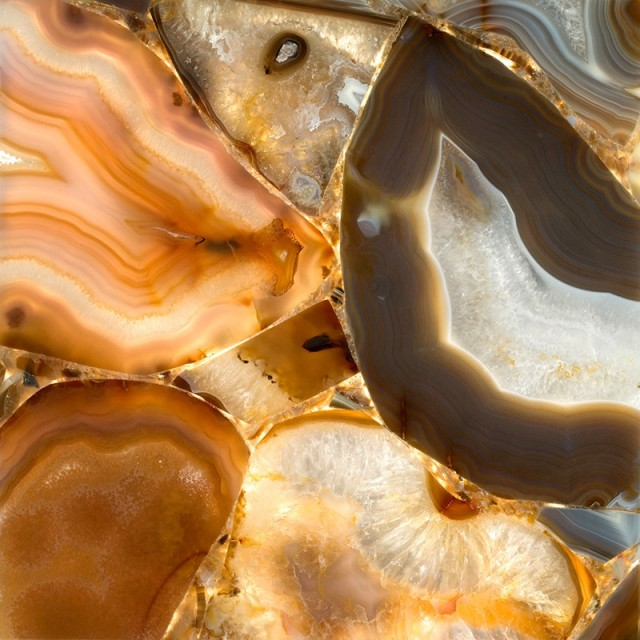Brown Agate Stone Finish
