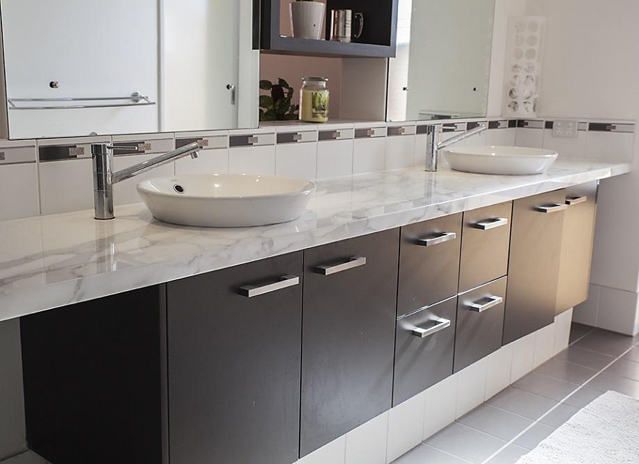 Marble Countertop in a bathroom